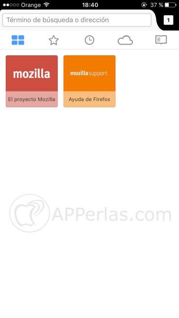 Firefox iOS 2