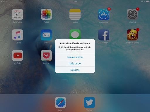 actualización de iOS 1