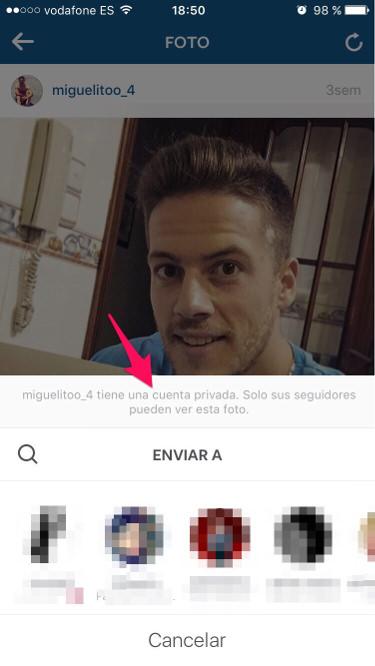Instagram por privado 2