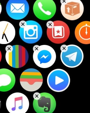 eliminar aplicaciones en el Apple Watch 2