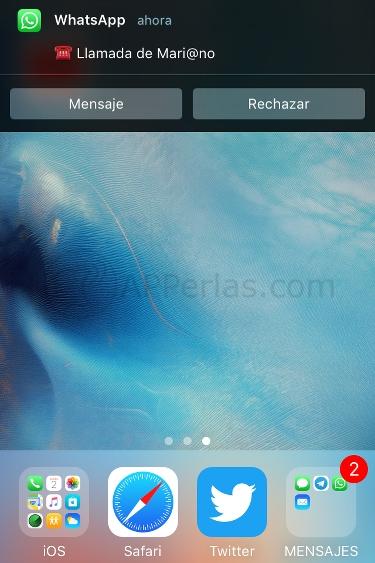 Whatsapp mensaje llamada 2