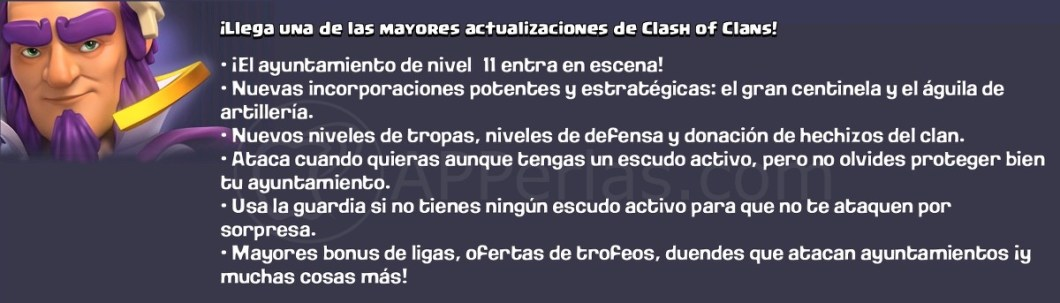 Actualización Clash of clans iOS