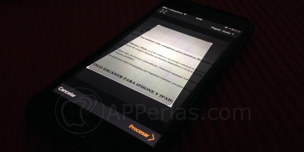 Escáner iPhone con Jotnot scanner