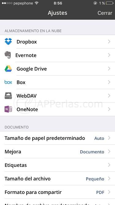 app escáner iphone