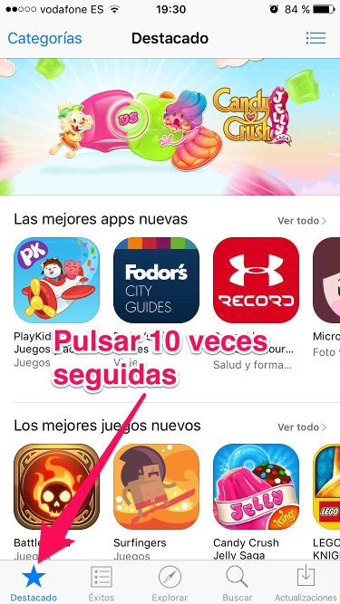 reiniciar la App Store 1