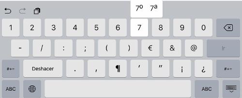 teclado de iOS 9 4