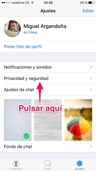 cuenta de Telegram 1