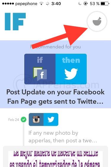 instagram en twitter iOS