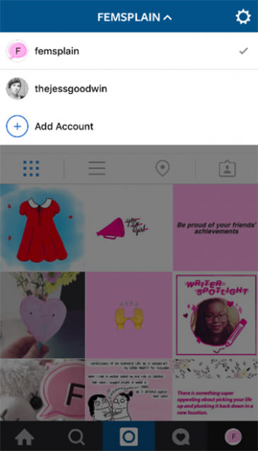 Múltiples cuentas instagram 2