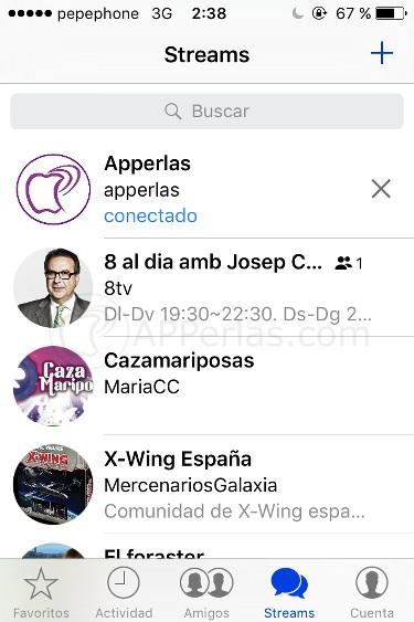 Chat público en app Shootr