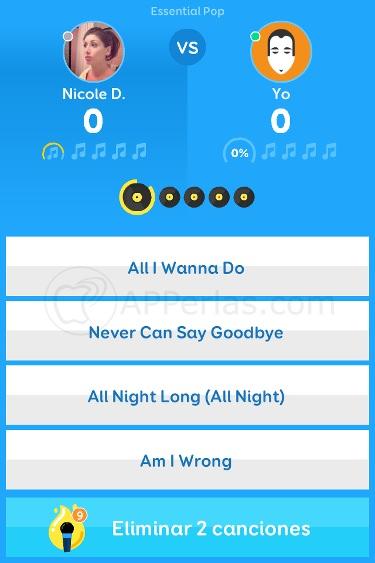 Juego de adivinar canciones en iPhone