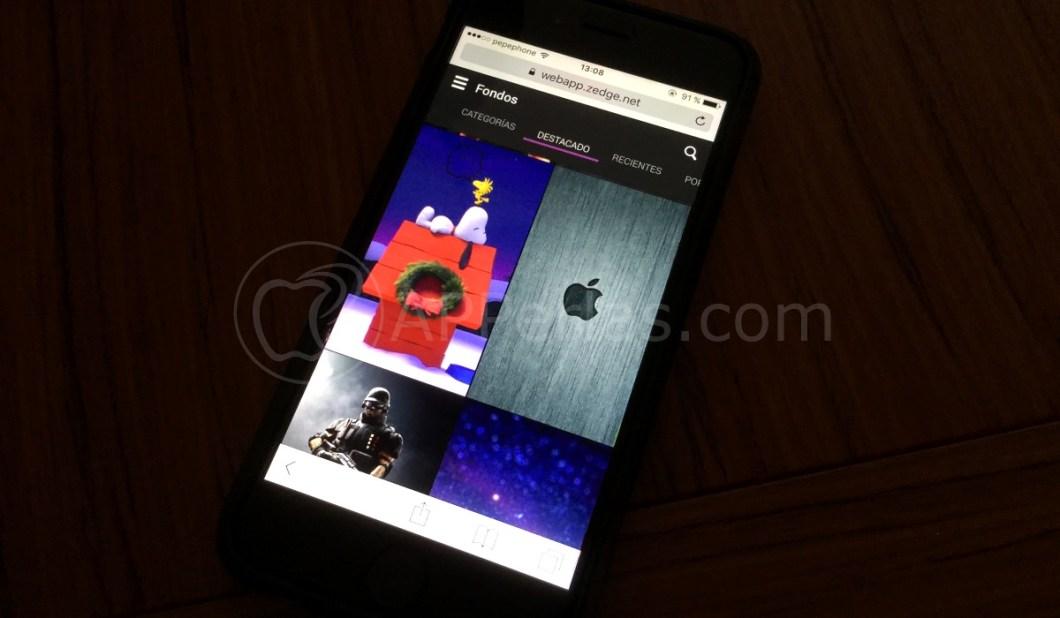 Zedge web app