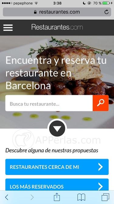restaurantes.com web app