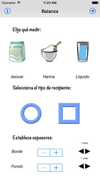 app de comida y bebida Balanza de cocina