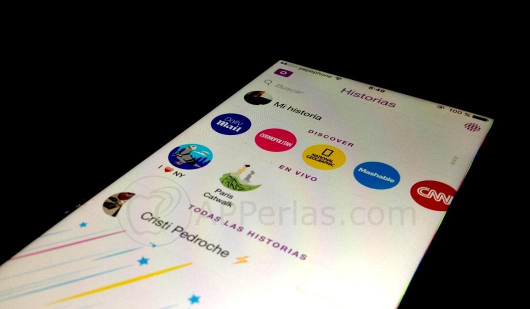 Snapchat interfaz