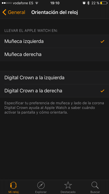orientación del Apple Watch 2