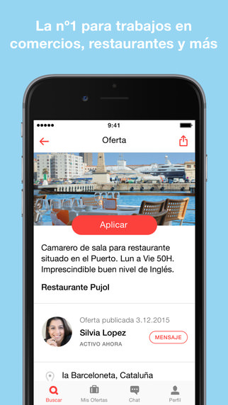 Job Today app para buscar trabajo