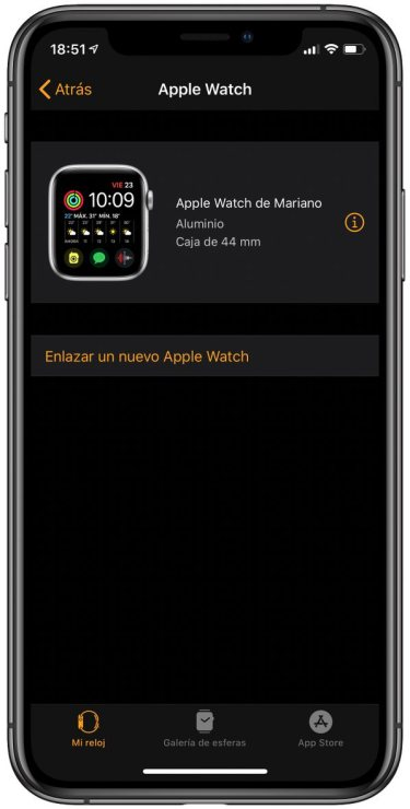 Enlaza un nuevo reloj a tu iPhone