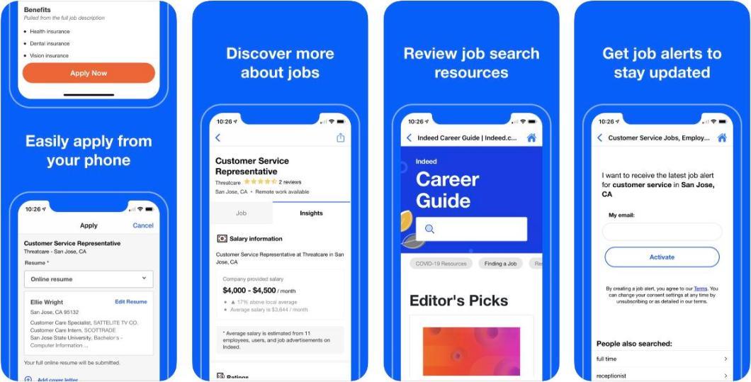 Busca empleo con la app Indeed