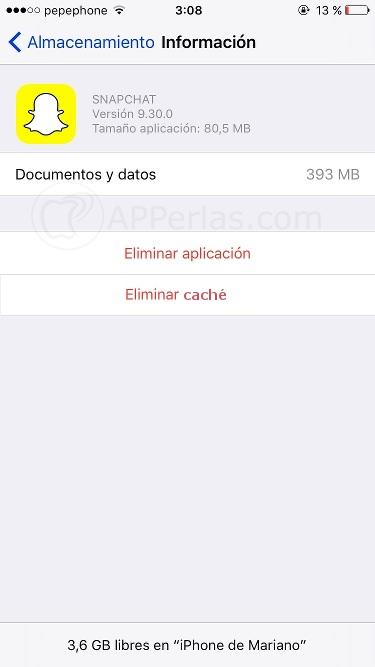 Función Caché iOS