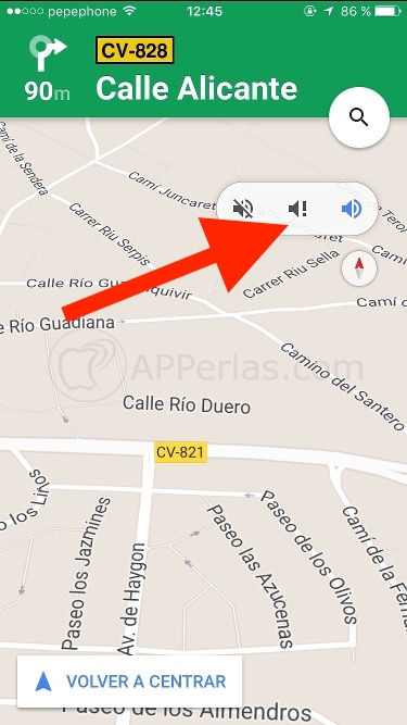 Google maps Horas punta y sonido