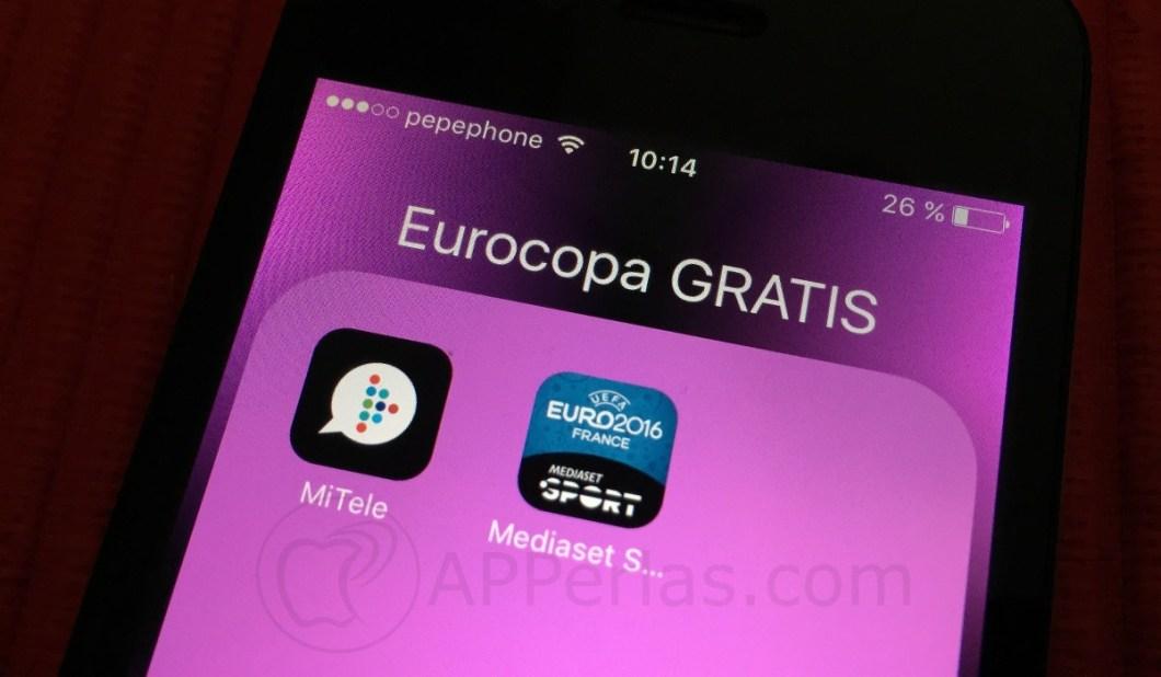 Partidos de la Eurocopa 16 aplicaciones