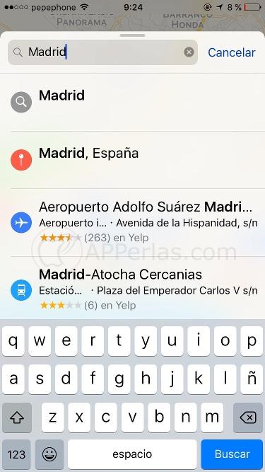 Lugares destacados en Mapas de iOS 10