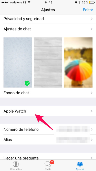 Telegram para Apple Watch 1