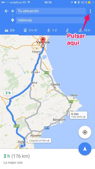 ruta con Google Maps 1