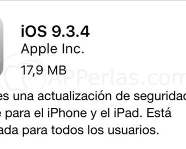 iOS 9.3.4 iPhone iPad