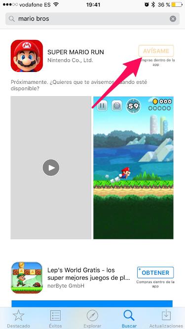 Mario Bros para iPhone 1