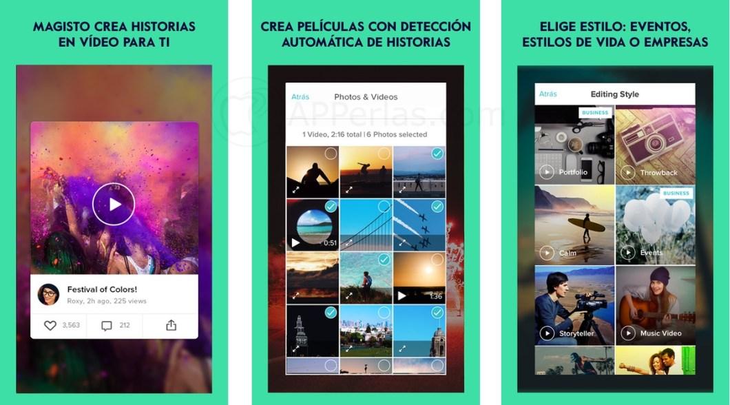 Magisto app para hacer vídeos recopilatorios de vacaciones