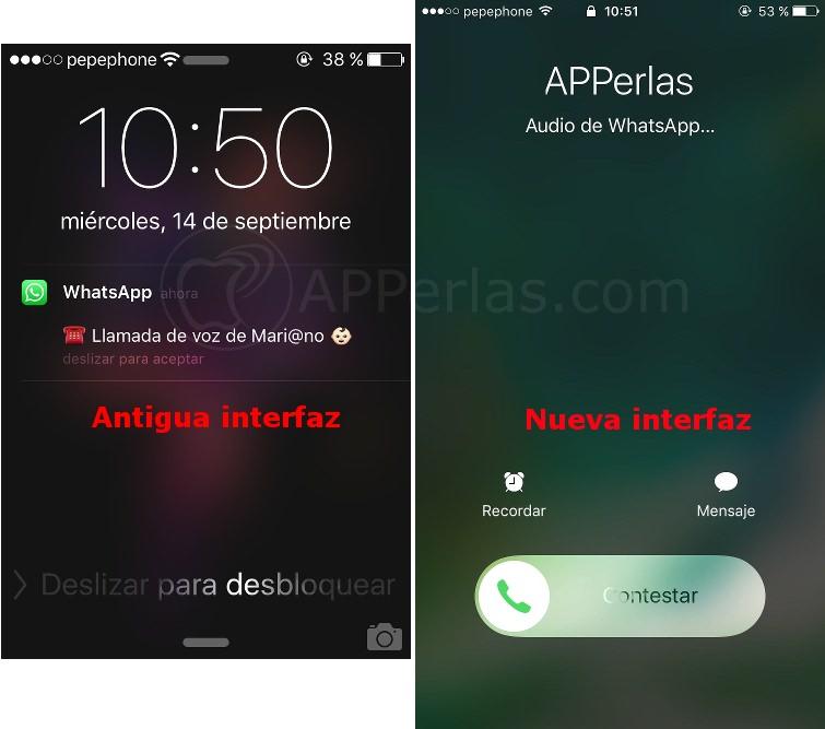 Llamadas en Whatsapp 2.16.10