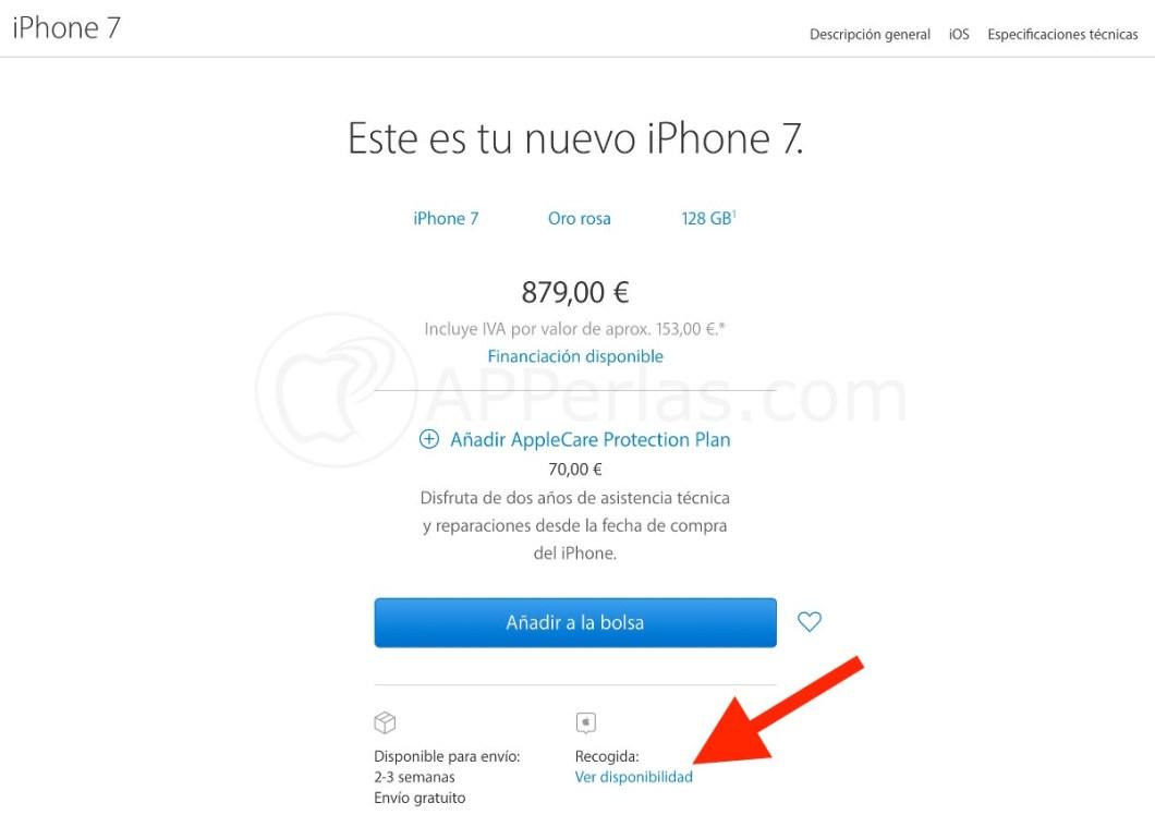 Comprar un iphone 7 y 7 PLUS sin esperas