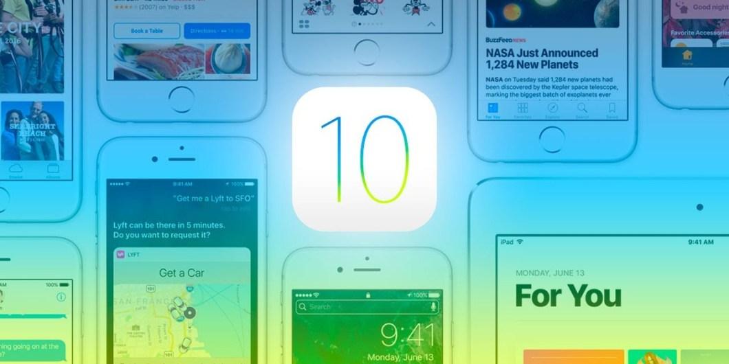 aplicación en iOS 10
