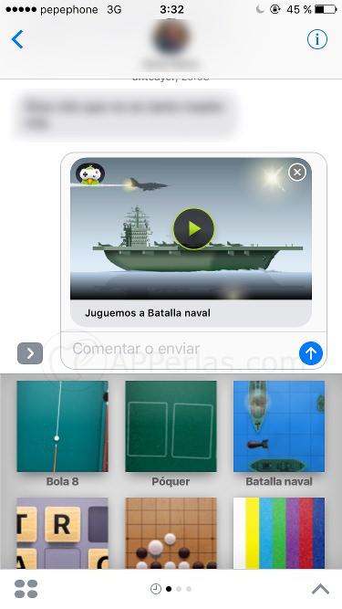 Juegos de imessage barcos