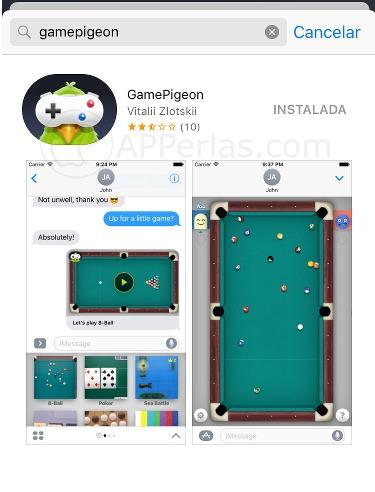 Juegos de imessage Gamepigeon