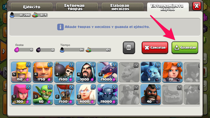 tropas en Clash of Clans 2