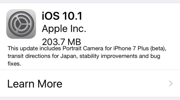 ios 10.1 iPhone y iPad