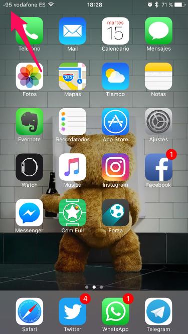 cobertura en el iPhone 2