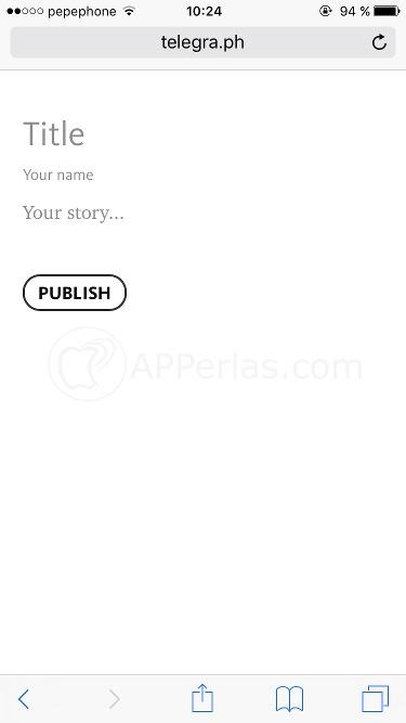 Escribir artículos en Telegra.ph