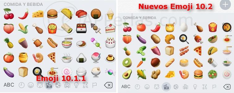 Nuevos emoji de iOS 10.2