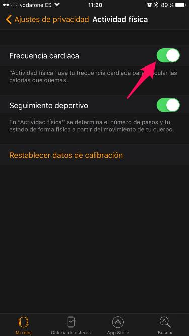 frecuencia cardiaca en el Apple Watch 1