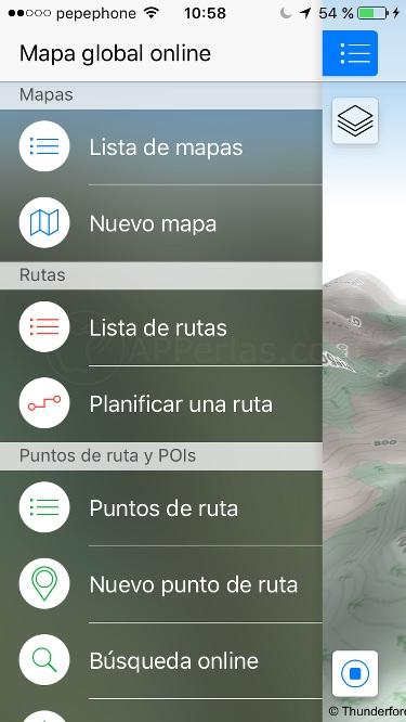 Crear rutas con Maps 3D PRO en iPad