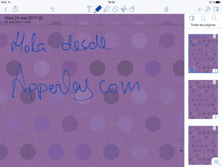App de notas Notability para iPhone