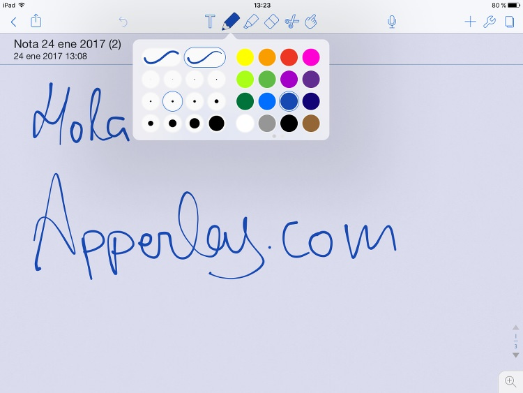 App de notas Notability para iPad