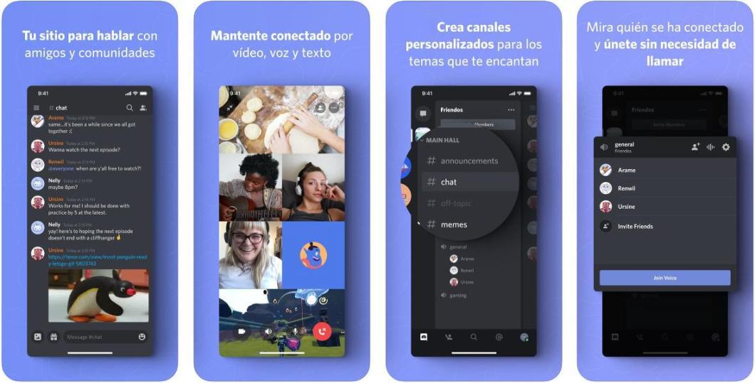 App de comunicación para Gamers