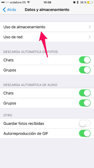 espacio en Telegram 1