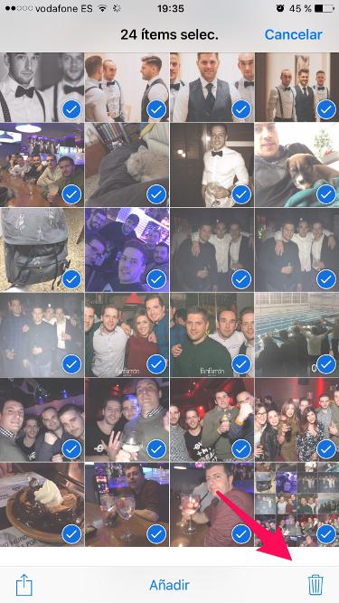Truco para iPhone para borrar fotos