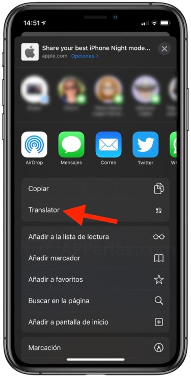 translator safari ios